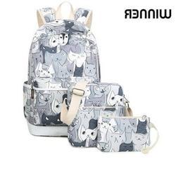 School Bag Kids Backpack Set Animal Printed Daypack Laptop R