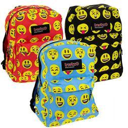 "Kids Oxford Essentials Emoji  15"" Backpack Emoticon Faces"