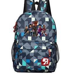 Kids Schoolbag Backpack with Roblox Students Bookbag Handbag