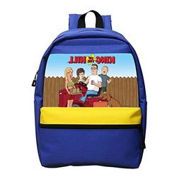 King of Bobby Hank the Hill Zipper Rucksack School Backpack