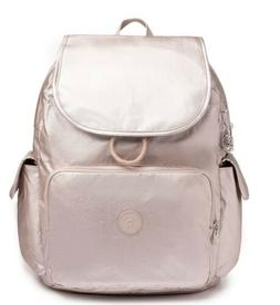 Kipling Zax Lare Diaper Bag Backpack Metallic Rose / Silver