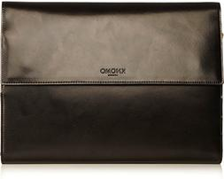 Knomo Knomad Air Leather Portable Organizer, Black