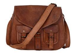 KPL 14 Inch Leather Purse Women Shoulder Bag Crossbody Satch