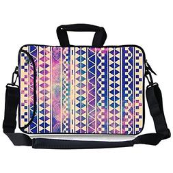 Retro Nebula Aztec Andes Tribal Pattern Neoprene Laptop Shou