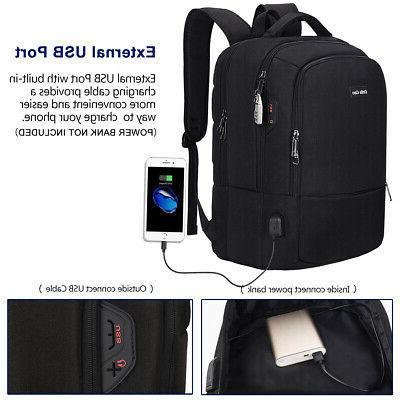 15.6'' Men Laptop Backpack Waterproof Travel School Shoulder