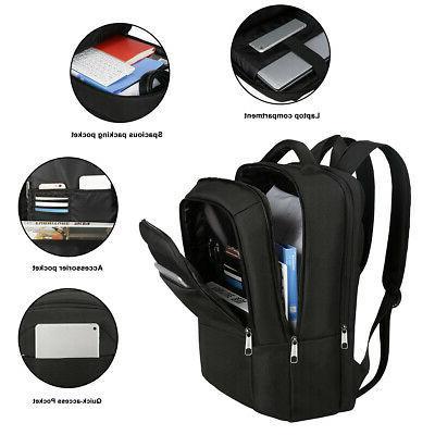 """Waterproof 15.6"""" Men Laptop Backpack Business School Bag Tra"""