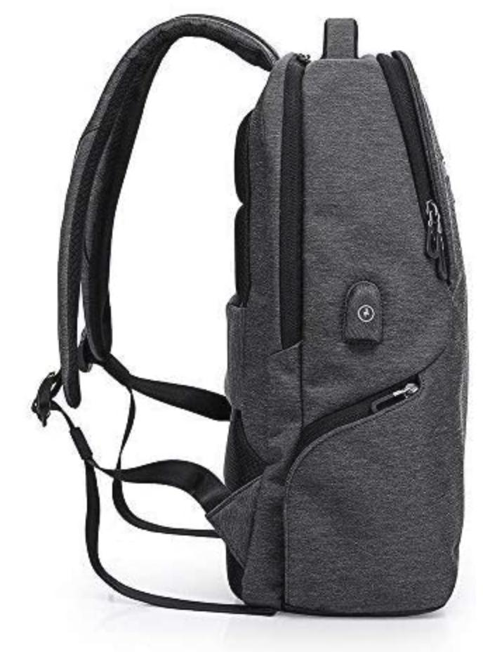 "15.6"" Laptop Large USB Charging Waterproof Men Women School Bag"