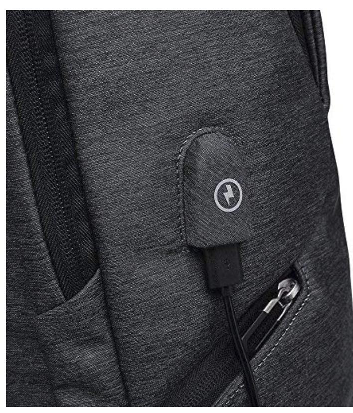 "15.6"" Laptop Backpack USB Charging Travel Waterproof Men Women"