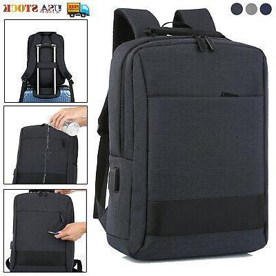 15 6 laptop backpack waterproof usb mens
