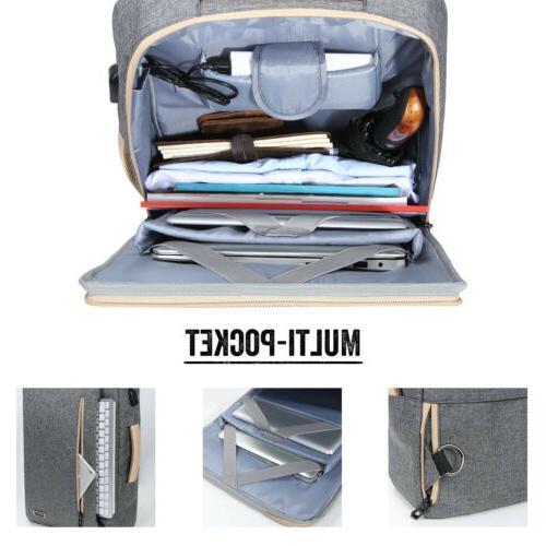 """15.6"""" Men Laptop Travel Messenger Bag School Bookbag"""