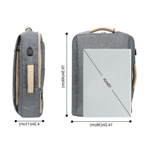 """15.6"""" Backpack Travel Business Messenger Bag School"""