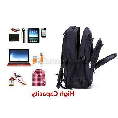 15.6'' Men Laptop Waterproof Travel Bag Satchel Bookbag