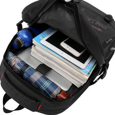 15.6'' Mens Oxford Satchel Laptop Casual Hiking Rucksack