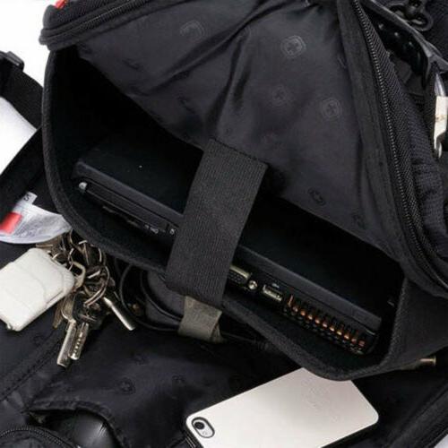 New Black Swiss Macbook Backpack
