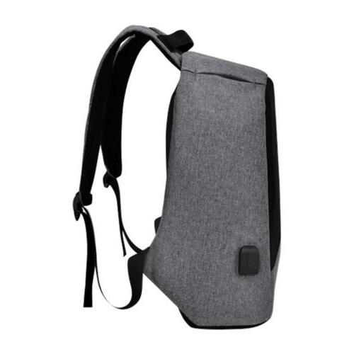 "15"" Men's Backpack Waterproof USB Travel Bag"