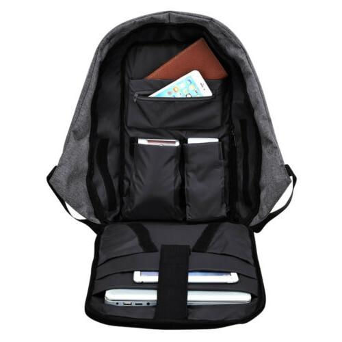 "15"" Backpack USB Travel School Bag"