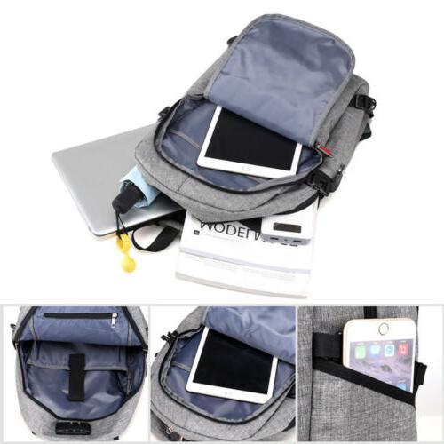 Mens Anti-Theft Bag Travel Laptop Backpack Bag