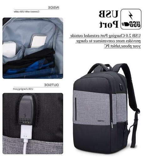 17~17.3 Bookbag w/USB Hiking Daypack