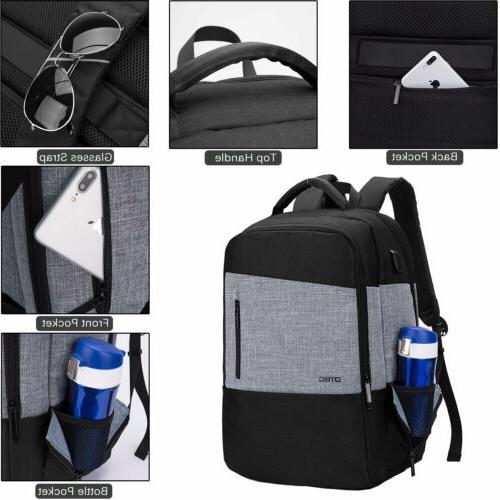 17~17.3 Inch Bookbag w/USB Hiking School Daypack