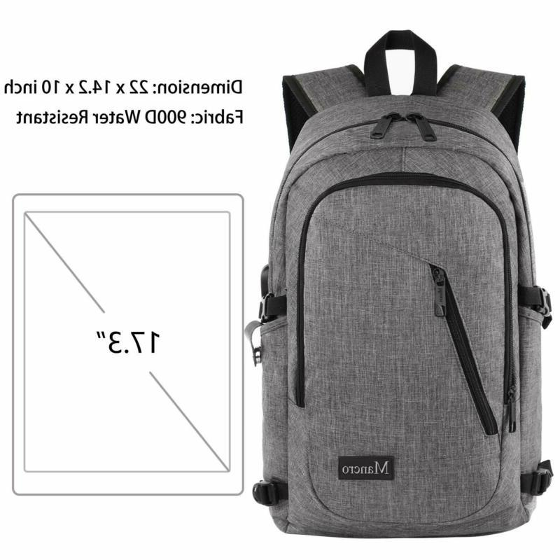 17.3 Inch Backpack, Large Travel Backpack with Charging