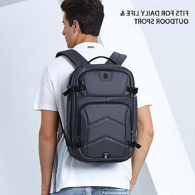 17.3 inch Backpack Waterproof Anti-Theft Computer Bag Gray