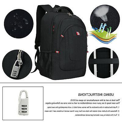 17.3inch Backpack Anti Theft School Shoulder