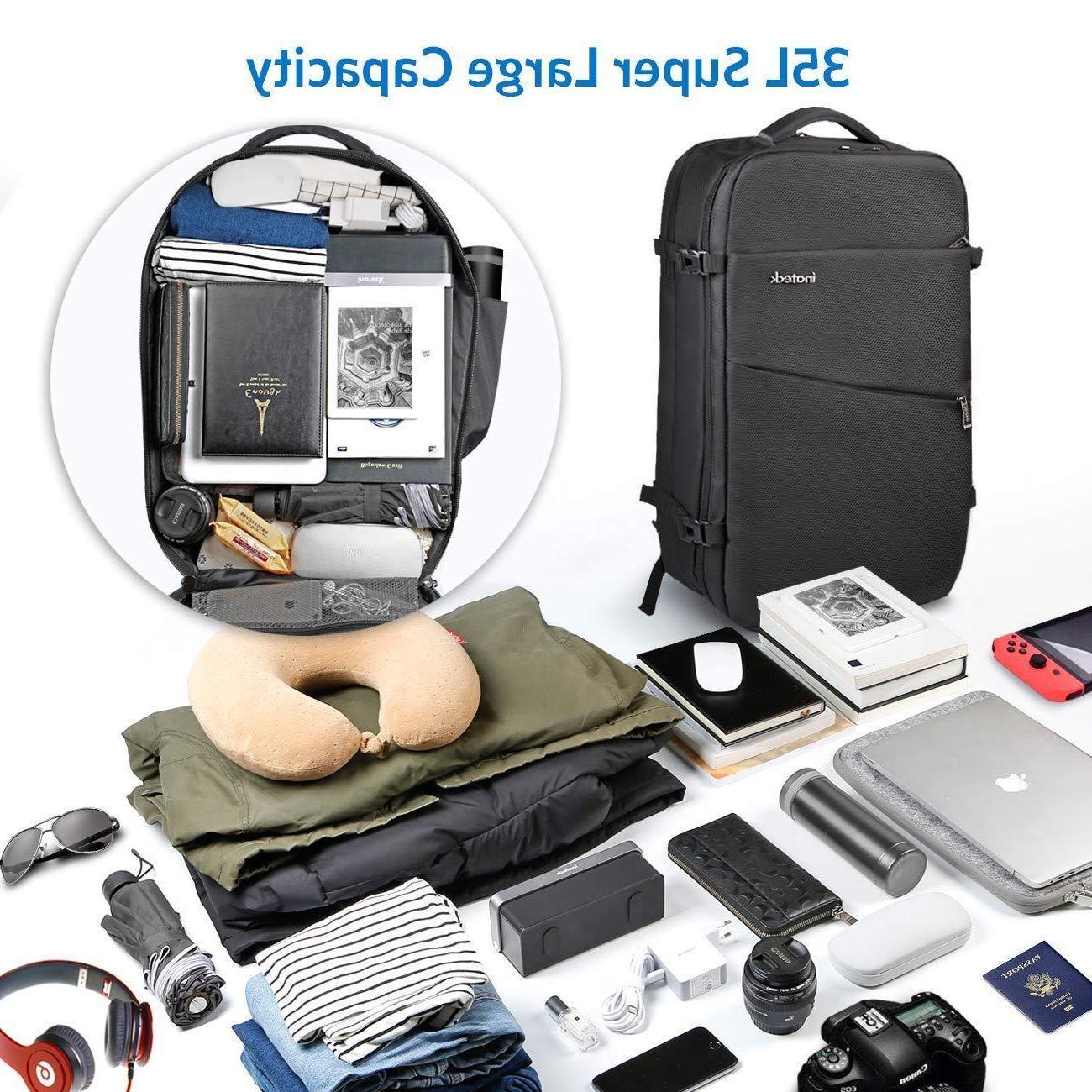 Inateck Travel Backpack, Rucksack - Black