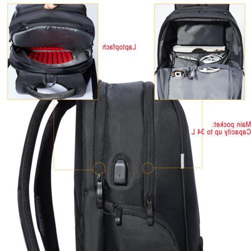 KALIDI Laptop Backpack Rucksack External USB for 17