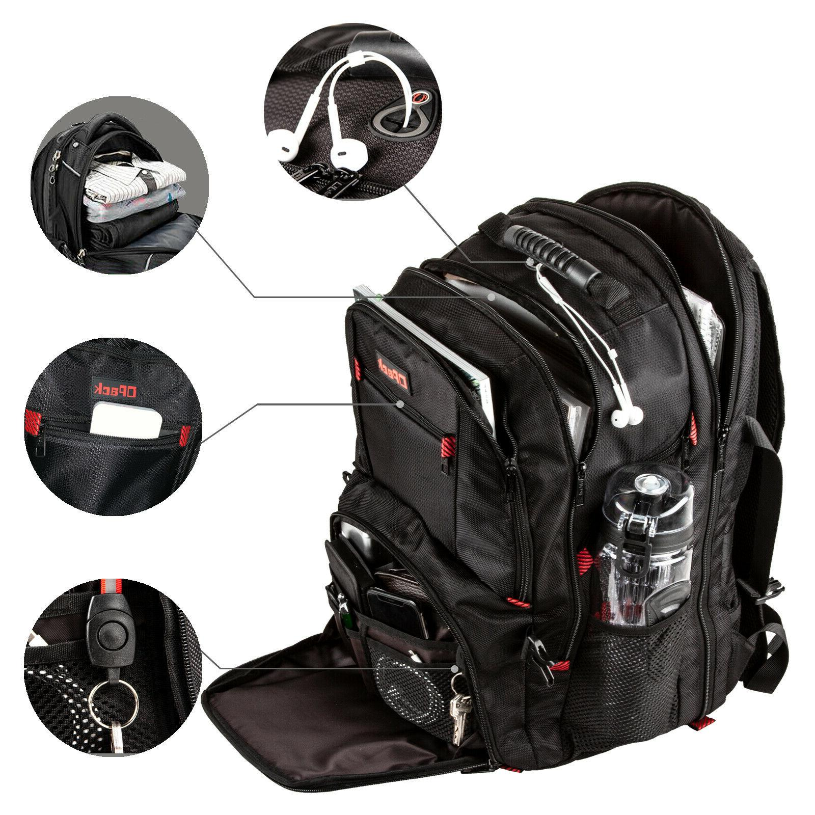 17 laptop school waterproof backpack anti theft