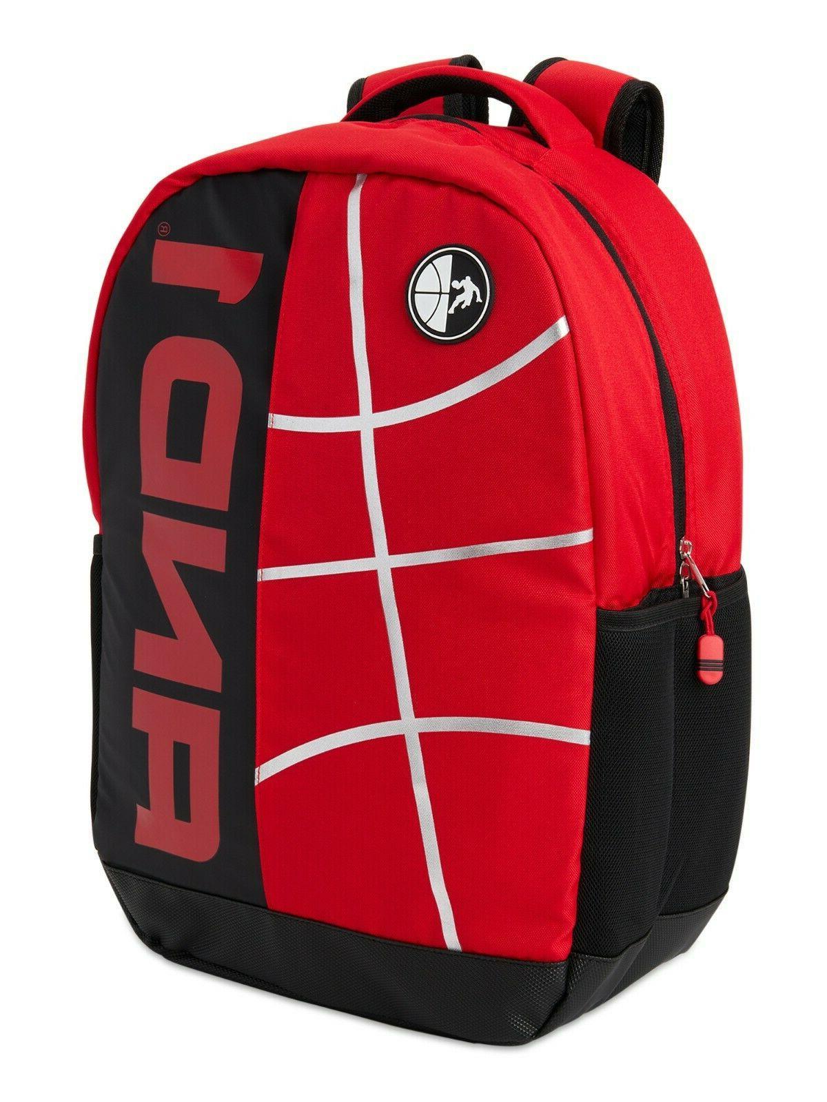 "18"" Paint"" Black Red Backpack/Book Bag Laptop"