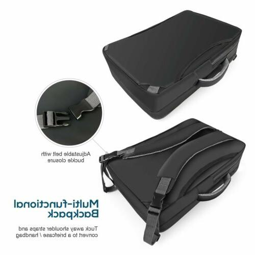 Lavievert Men's Water-Resistant Backpack Briefcase 17 Inch Laptop