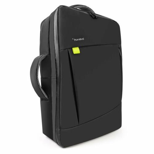 Lavievert 2-in-1 Water-Resistant Backpack Briefcase to 17