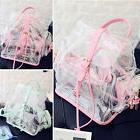 2017 Women Clear Transparent Shoulder Bag Handbag Backpack C