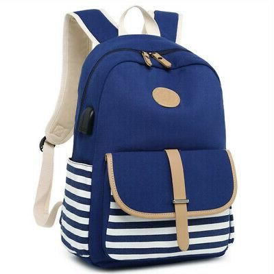 2Pcs Womens Backpack Travel Satchel Rucksack