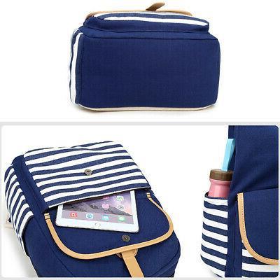 2Pcs Womens Backpack Shoulder Bags Laptop Travel Satchel