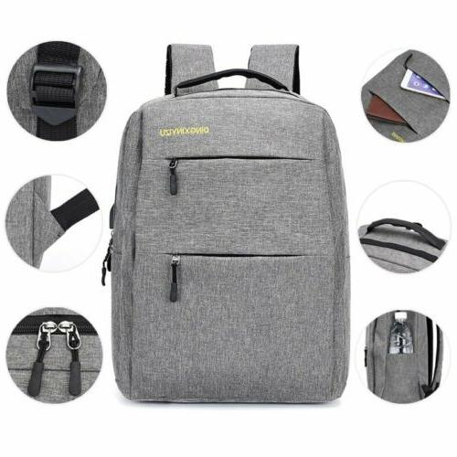3PCS/Set Unisex Backpack Bookbag With Charging