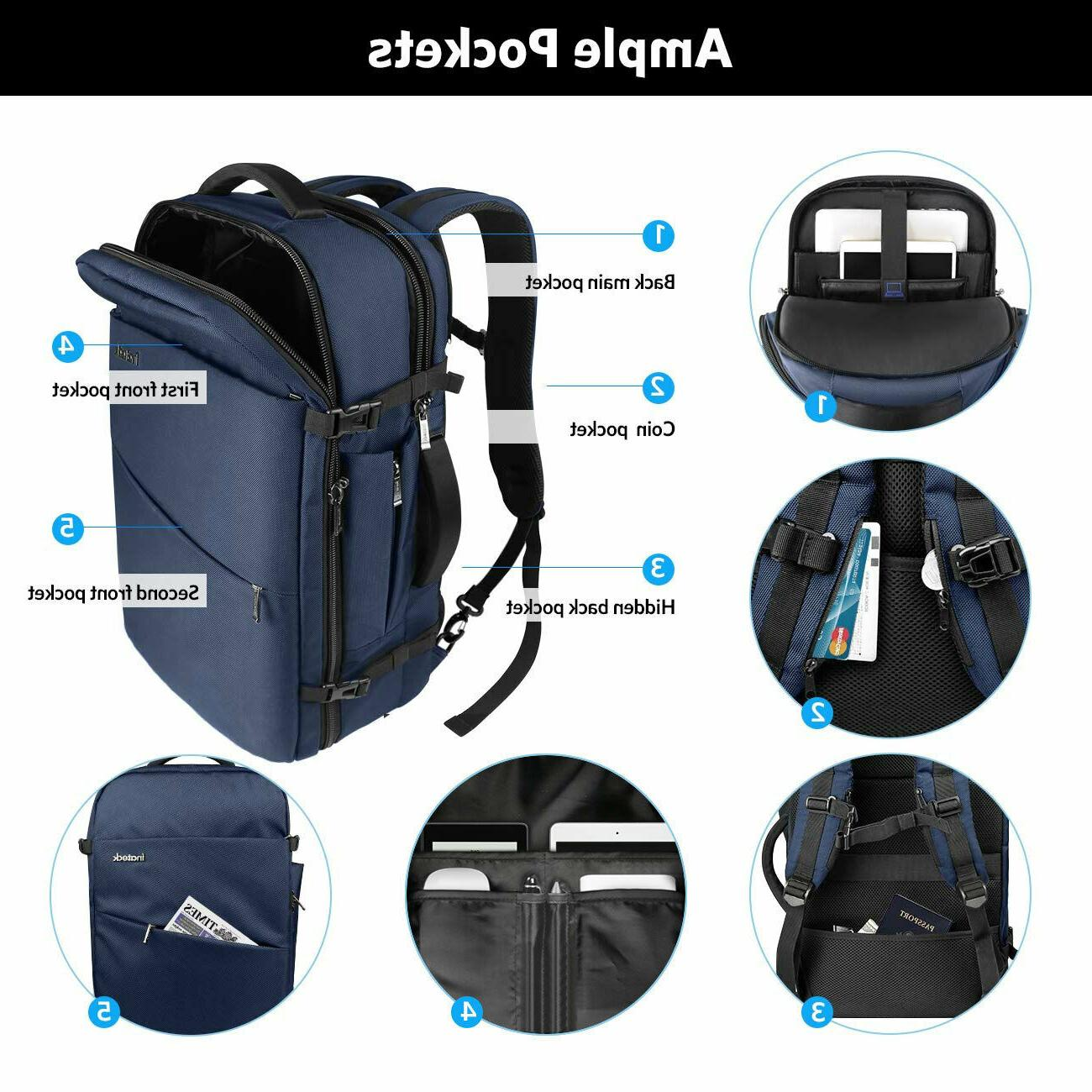 Inateck Backpack for 17 Laptop Carry-On Blue