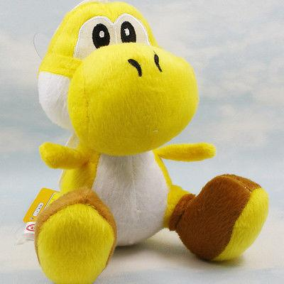 "Super mario bros Yellow running yoshi 8/"" soft Stuffed plush toy figure Doll Gift"