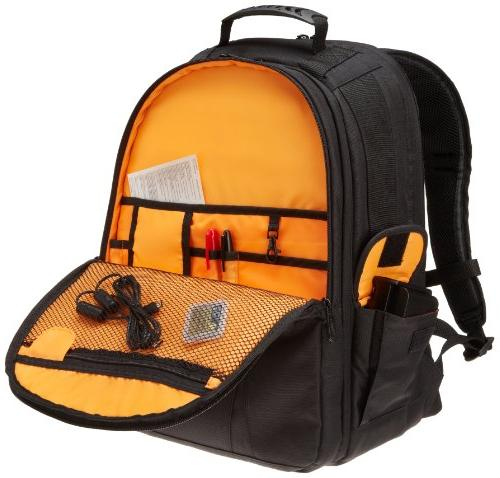 AmazonBasics Backpack - Orange interior