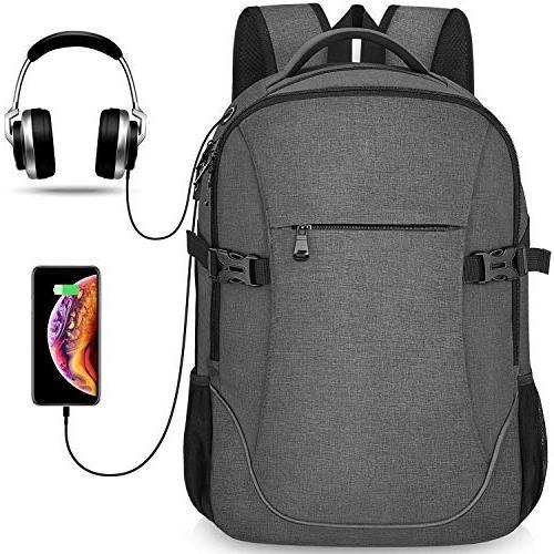 Anti-theft Lightweight Travel Laptop Backpack Dark Grey for