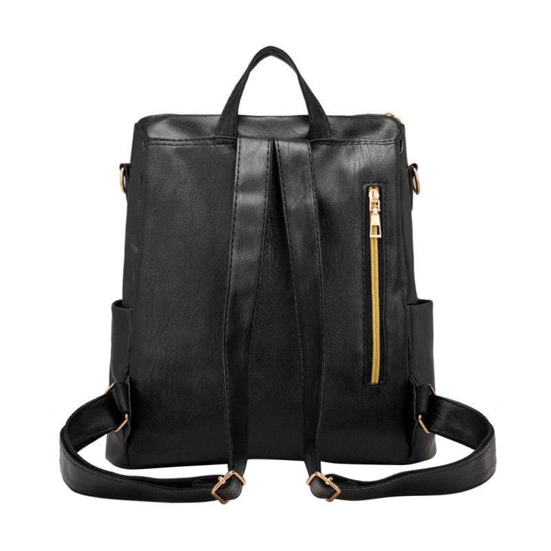Fashion Leather School Backpack Laptop