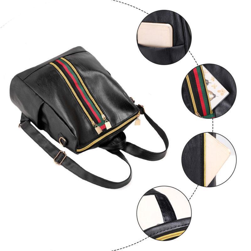Fashion Women Girls Leather Backpack