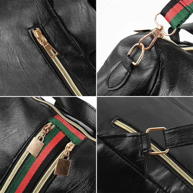 Fashion Women Girls Leather School Backpack Laptop