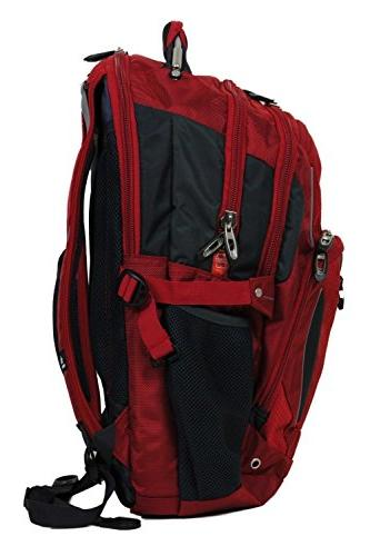 High Backpack Red Laptop with & Suspended