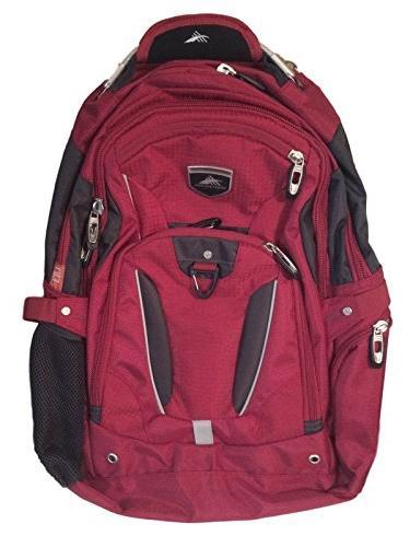 High Sierra Business Elite Backpack Red Fits 17'' Laptop wit