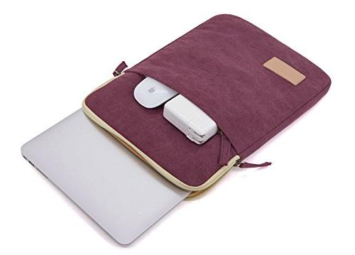 Kinmac Wine Red Vertical Laptop Sleeve with 13 for 13.3 inch Laptop