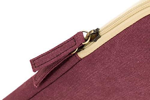 Kinmac Wine Vertical Laptop Sleeve Pocket 13 inch