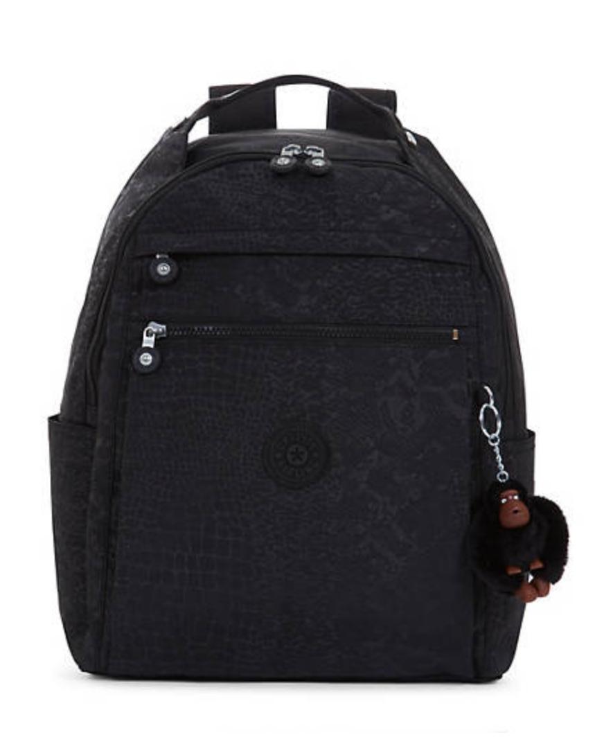 Kipling Micah Medium Laptop Backpack BLACK CROC Trolley Slee