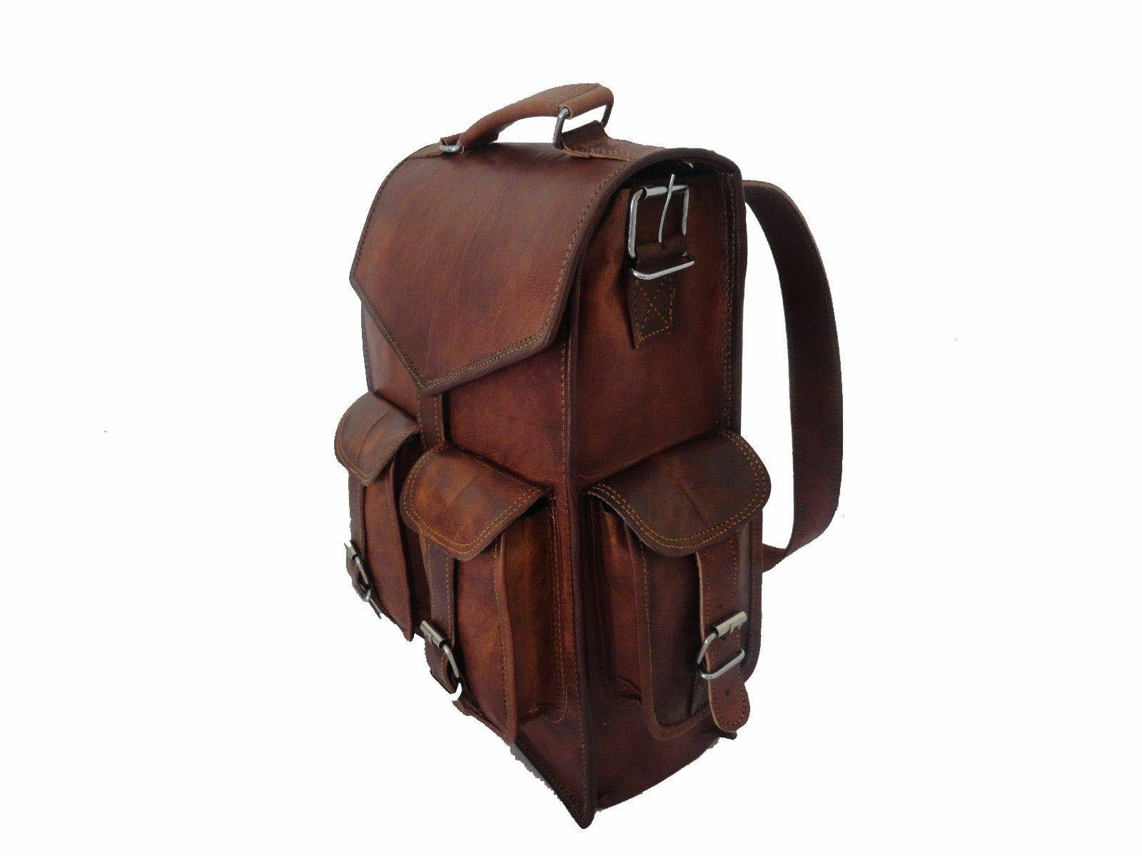 Mens Vintage Leather Laptop Bag NEW
