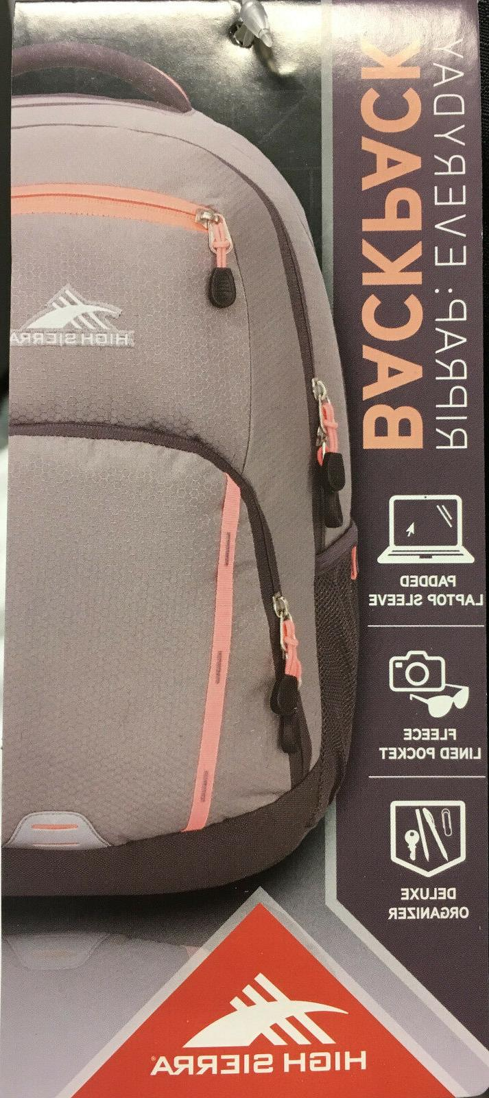 NEW High Sierra Backpack Everyday RIPRAP Black Organizer 19 x 8.5